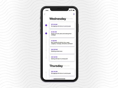 To Do List to do list ios 11 design ux ui mobile minimal app
