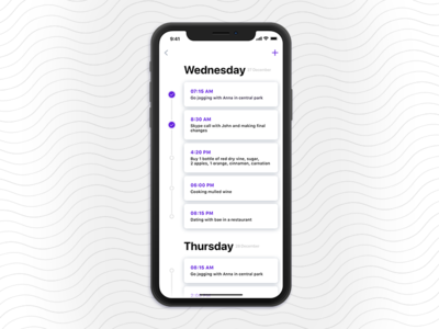 To Do List to do list ios 11 design ux ui mobile minimal app