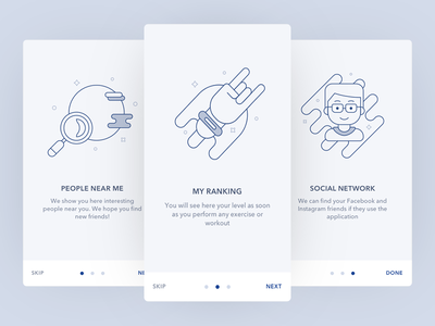 Cosmos Onboarding illustrations icons onboarding design ux ui mobile app