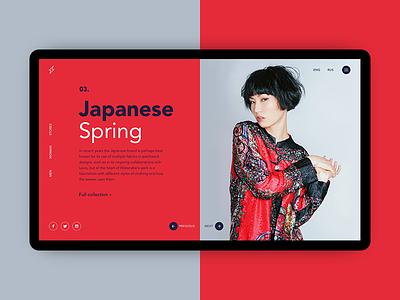 Japanese Spring spring japanese minimal girls concept design ui website web shop fashion