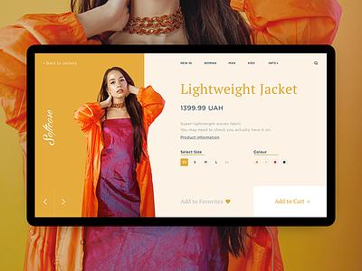 Softcore Fashion website web ui store shop product minimal girls fashion design concept cart