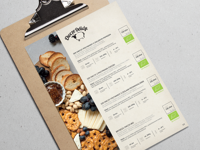 sheep's delicacies - cheese - menu restaurant concept clean a4 sheep delicasiec prin menu cheese