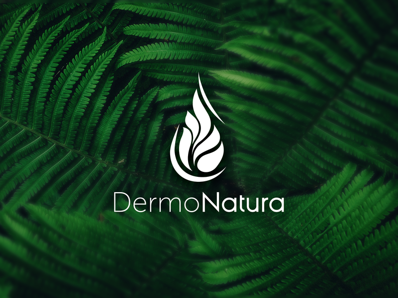 Natural cosmetics logo natural cosmetics cosmetics flower leaf plant logo natural design dermo