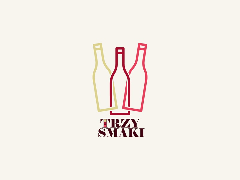winnica trzy smaki wine logo wine glass glass shop grape brand logo taste bottle wine bottle wine