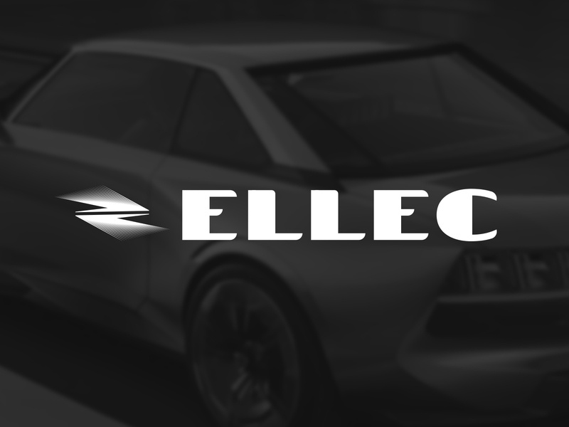Electric car logo monohrome simple black and white company logodesign branidng logo tesla car electric car