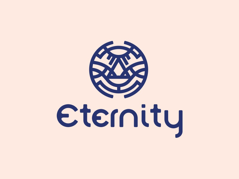 Eternity elegant simple vector god life faith eternity typogaphy typo concept branding design logo