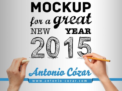 Happy New Year 2015 new year e-card greeting mockup 2015 email