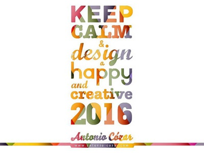 Happy and creative New Year 2016! creative 2016 new year branding personal