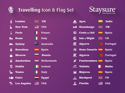 Staysure Travelling Icon & Flag Set