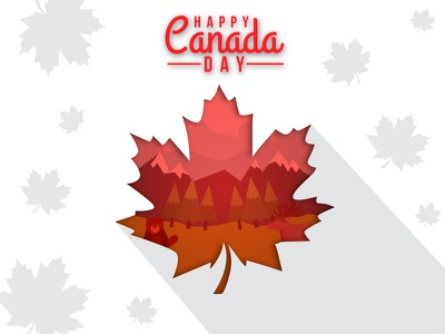 Happy Canada Day 2017 symbols national red 2017 day canada greeting card