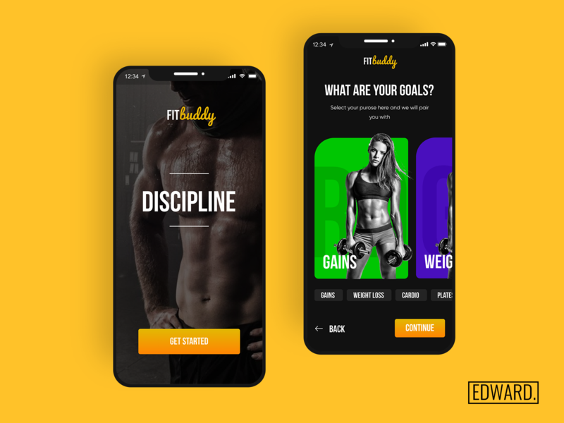 FITbuddy 💪🏽 app uxdesign ux uiux ui ui design invisionstudio invisionapp interaction design