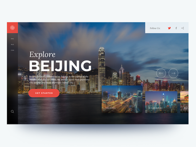 Explore China china traveling webdesign landing ux ui