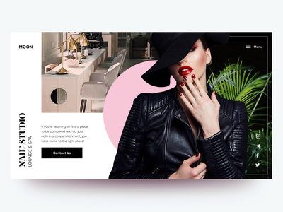 Moon - Nail' Studio Lounge & Spa beauty salon webdesign landing ux ui