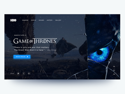Game of Thrones game of thrones adobe after effects adobe photoshop design webdesign landing ux ui
