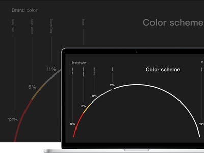 Color matching black red page ux web design ui