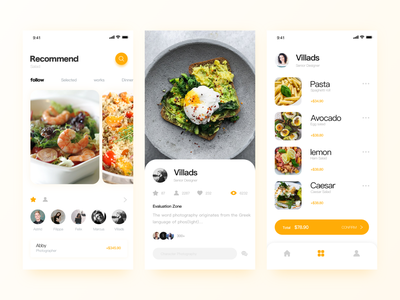 A Healthy Life illustration ux icon page yellow design ui