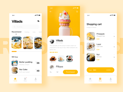 Sweet afternoon ux icon app yellow design ui
