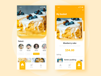 A Happy Day app page icon yellow design ui