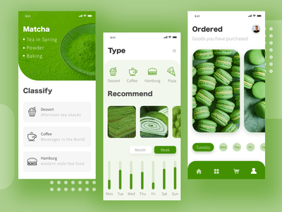 Nice day green page app icon design ui
