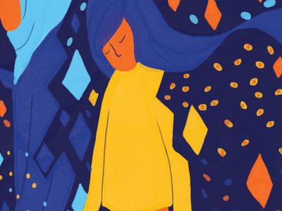 Feminism Lost pattern conceptual illustration editorial editorial illustration magazine feminism sofia sita