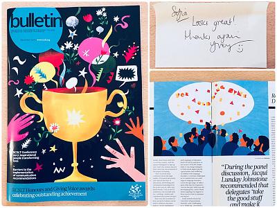 Bulletin magazine bulletin magazine pattern conceptual illustration editorial editorial illustration magazine sofia sita