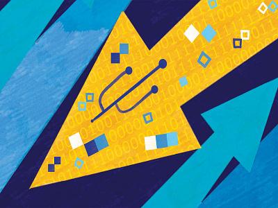 La Stampa technology market conceptual illustration facebook la stampa pattern conceptual illustration editorial editorial illustration magazine sofia sita
