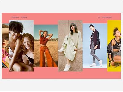 Fashion Design - Home page fashion typography website design website webdesig web ui minimal ux design