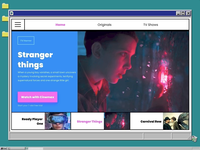 Movies & TV shows online, retro style
