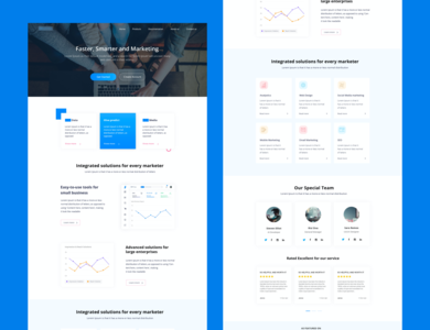 HIke web minimal branding web design design ux ui