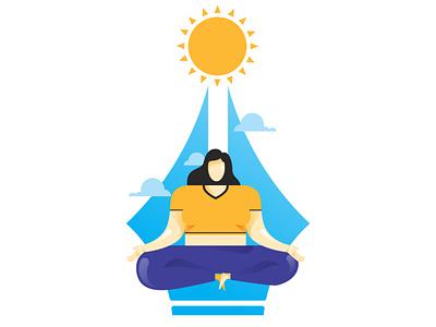 Yoga Day illustrationart women meditation meditation illustrator illustration female mental health girl women health female yoga yoga day yoga