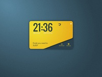 Clock UI card - Day5