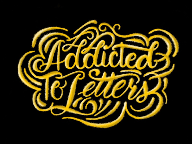 Addicted to Letters - Rebound Challenge hand lettering rebound rebound challenge addicted to letters addicted 3d lettering learning