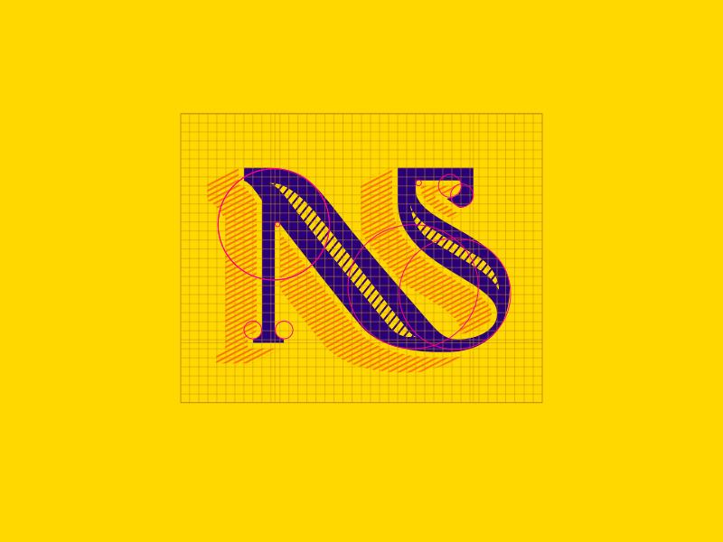 NS Monogram - Rebound challenge type monogram typeface affinity designer rebound challenge rebound word mark logo mark typography