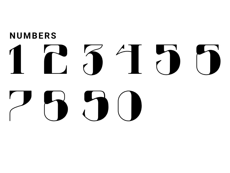 Numbers - Rebound challenge typography logo mark word mark rebound rebound challenge affinity designer typeface monogram type