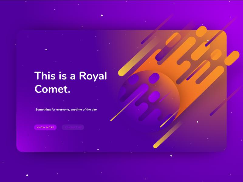 UI Design 02 purple ui design ui card social media promotional monotone space space marketing illustration digital marketing digital comet
