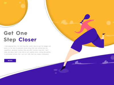 UI Design 03 purple ui design purple marathon nike sports women in illustration homepage design uidesign landingpage illustrationart illustration