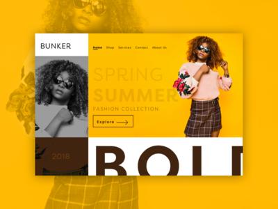 UI Design 04 minimal ui  ux design ui web ui design web design summer fashion website fashion