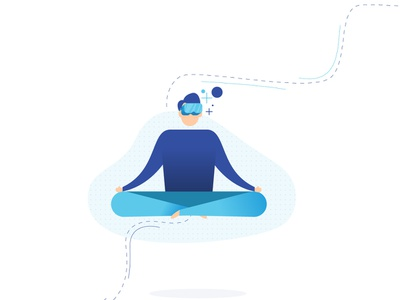 Incubate Illustration virtual reality vr vr technology meditation illustration art design illustration design adapt incubate illustration