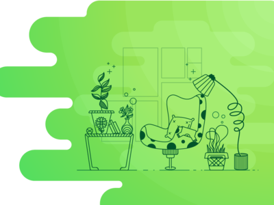UI Design 07 interior designer furniture design furniture store green ui ui design ui card social media promotional monotone space space marketing illustration digital marketing digital comet call ui home page illustration landing page ui illustration webdesign