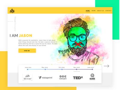 Resume Site character design typography illustration re-branding self portrait website ui design ui designer resume ui design resume ui ui design website design available for work resume