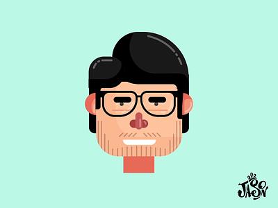 Jason Avatar Rig face rig face animation after effects illustration carticature caricature animation avatar animation male avatar male caricature affinitydesigner illustrator no plugin
