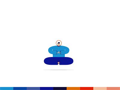 Meditation Motion graphics meditationillustration colorpalette animation motion animation yoganimation motiongraphics yoga illustration illustration yoga meditation