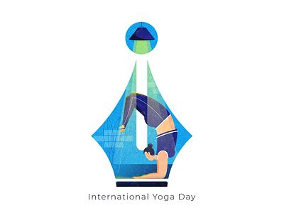 Internation Yoga Day branding healthy illustration healthy lifestyle women in illustration yoga women illustration ischoolconnect yoga illustration yoga day international yoga day yoga