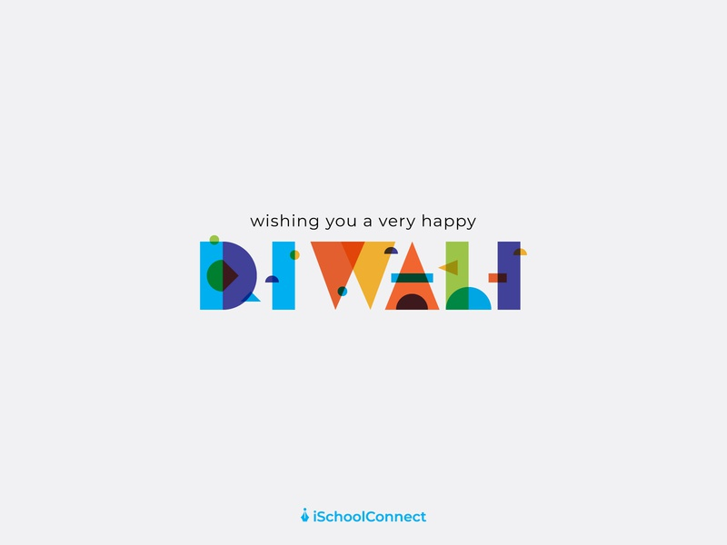 Happy Diwali vibrant happy patterns lettering typography illustration festival indian festival india happy diwali diwali
