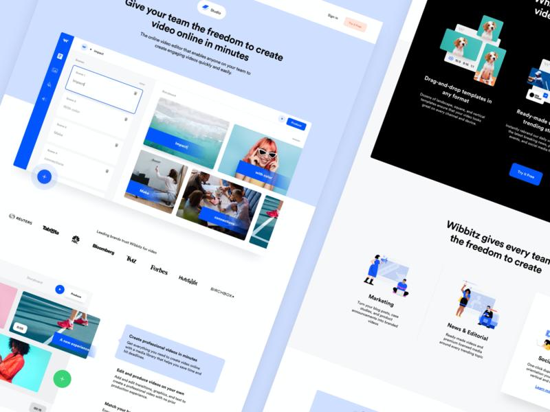 Wibbitz - Studio wordpress userexperience illustration identity enterprise development design cms business brand video corporate platform interface ui web