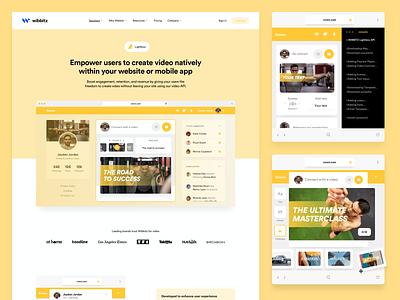 Wibbitz - Lightbox marketing corporate enterprise platform wordpress branding design interface ui web