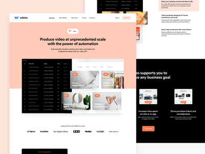 Wibbitz - Wavi website ux wordpress branding platform enterprise corporate design minimal interface ui web