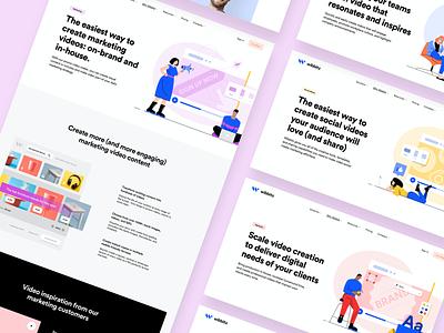 Wibbitz - Use Cases corporate platform website wordpress enterprise wordpess illustration design interface ui web