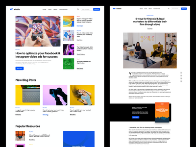 Wibbitz - Resource Center resources blog tool video marketing platform enterprise corporate minimal interface ui web
