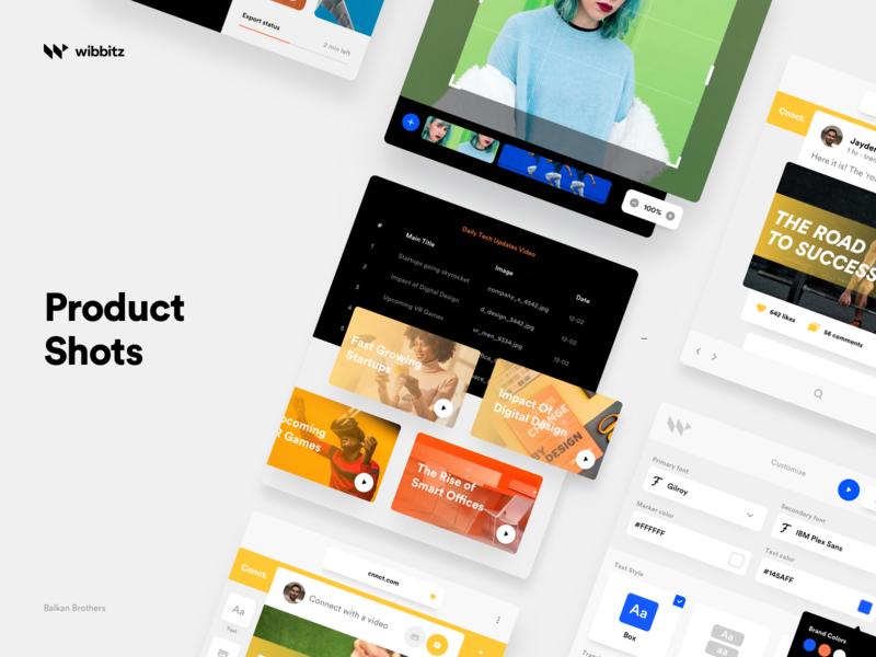 Wibbitz - Product Shots wordpress platform website design enterprise product mockup illustration interface ui web